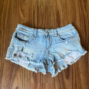 Pink Denim Cut-Off Shorts